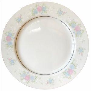 3 China Garden Floral Dinner Plates by Prestige